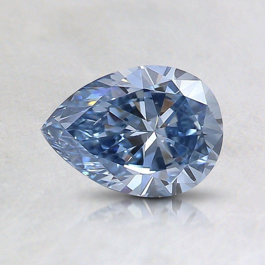 0.61 Ct. Fancy Intense Blue Pear Lab Created Diamond