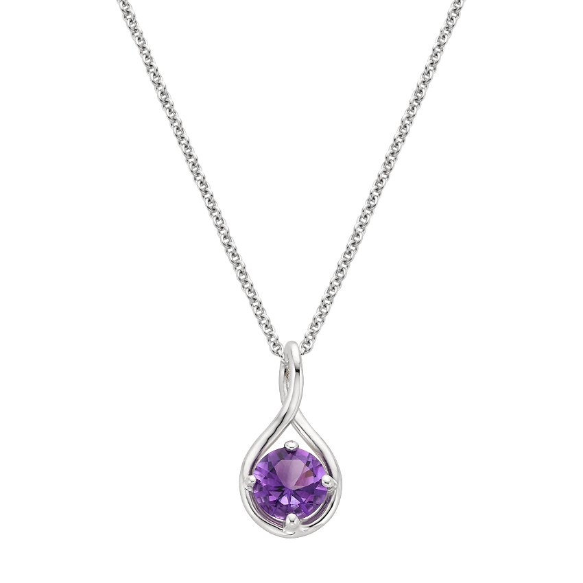 Top Twenty Gifts - SILVER AMETHYST TWIST PENDANT