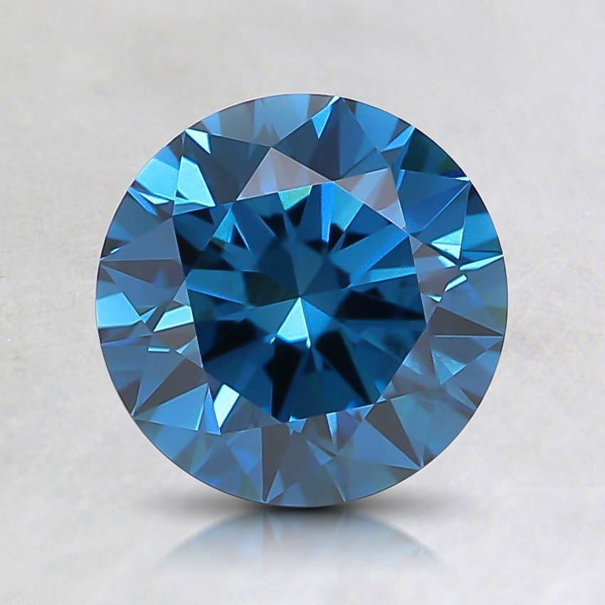 1.05 Ct. Fancy Deep Greenish Blue Round Lab Created Diamond