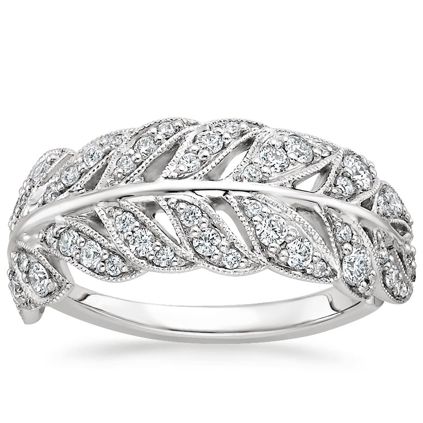 Feather Diamond Ring (1/2 ct. tw.) in Platinum