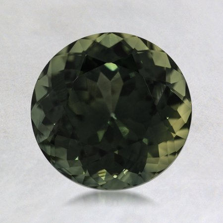 7.5mm Green Round Sapphire, top view