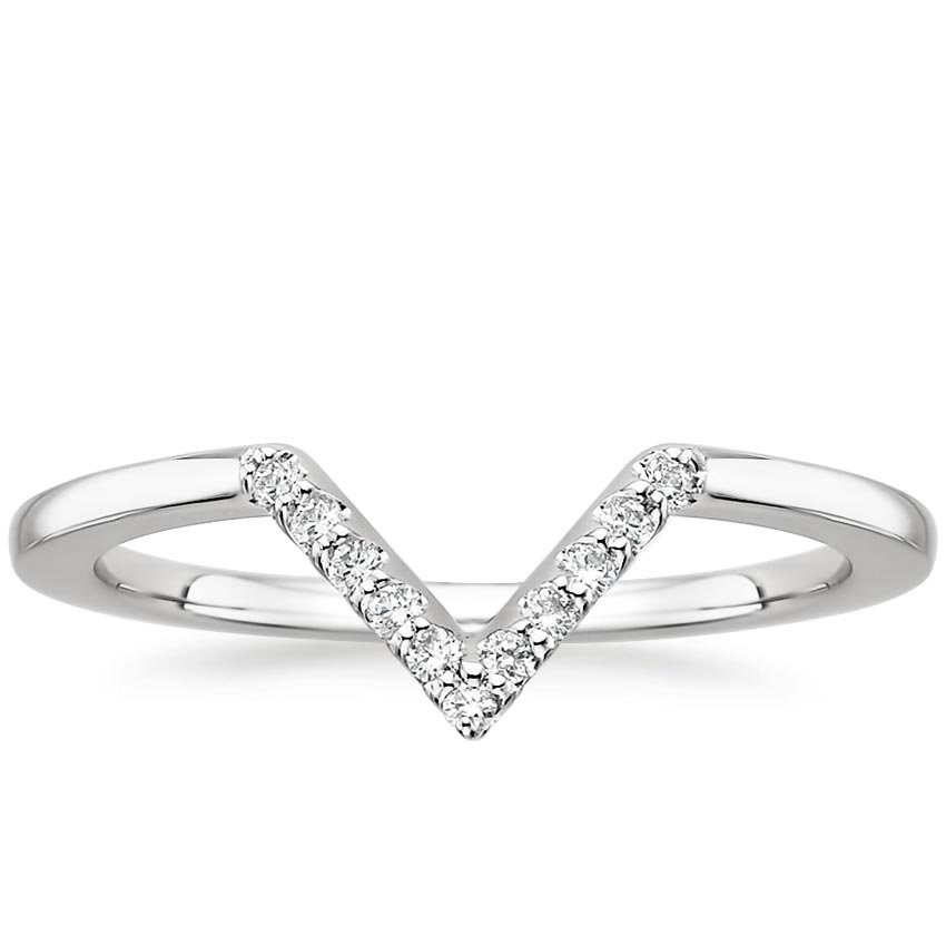 Chevron Diamond Ring Lucy Brilliant Earth