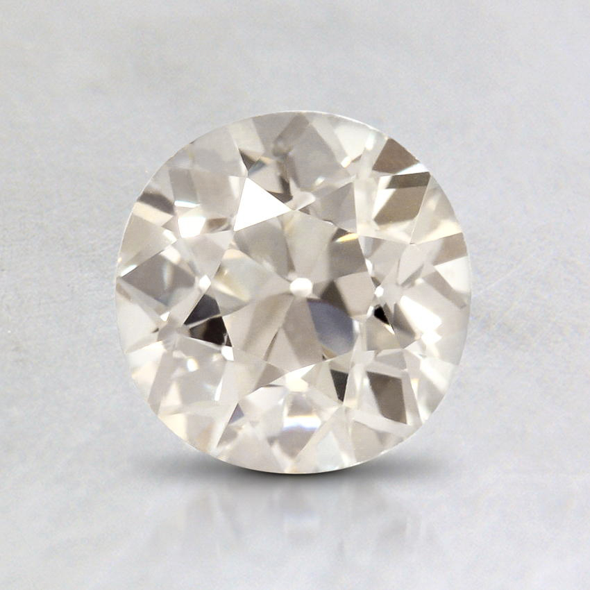 0.91 Carat, J Color, VS2 Clarity, Round Old European Cut Diamond