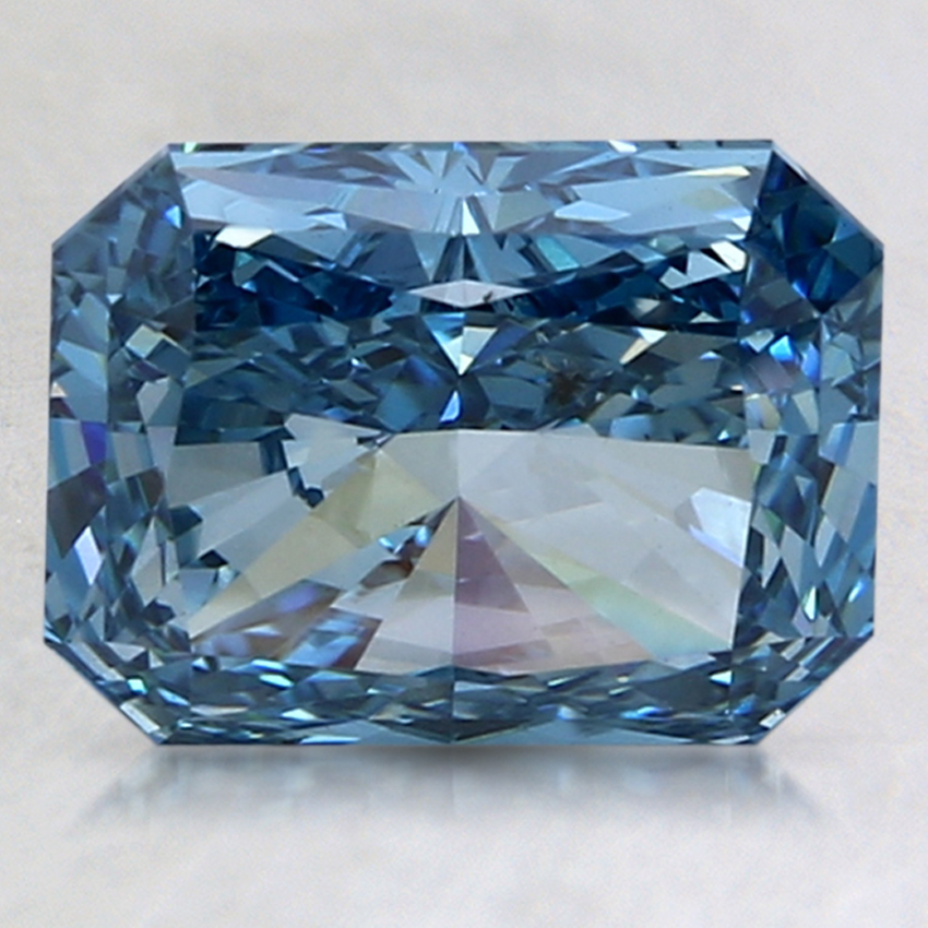 3.01 Ct. Fancy Intense Blue Radiant Lab Created Diamond