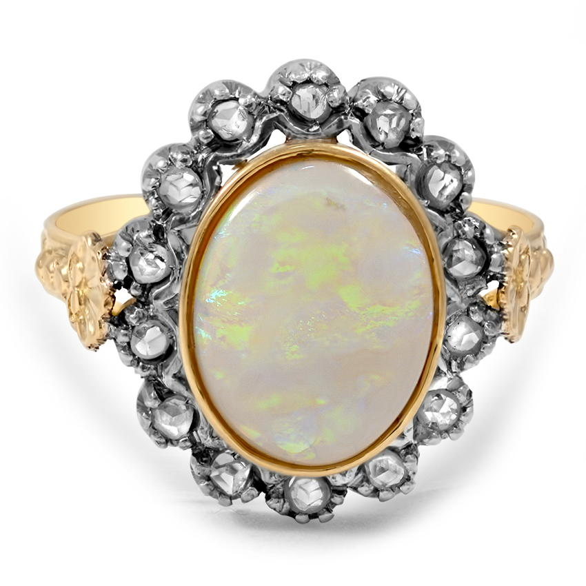 The Evangelina Ring, top view