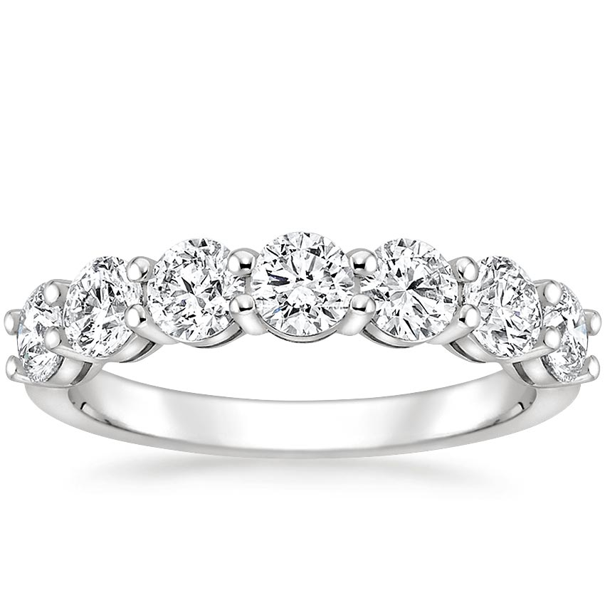 Round Seven Stone Diamond Ring (1 1/2 ct. tw.) in 18K White Gold