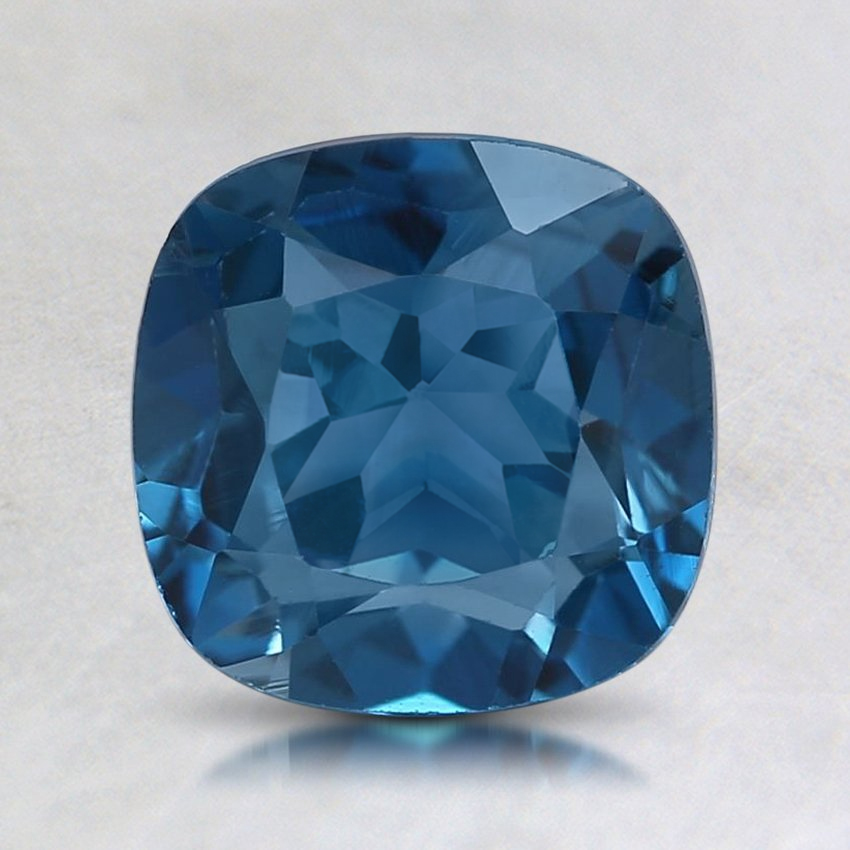 8mm London Blue Cushion Topaz