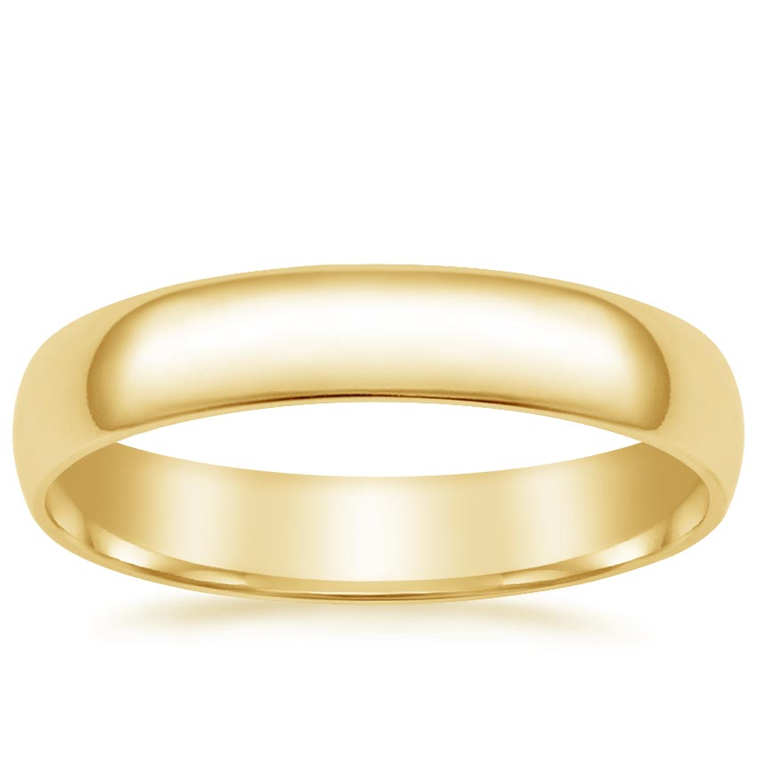 Yellow Gold 4mm Slim Fit Wedding Ring