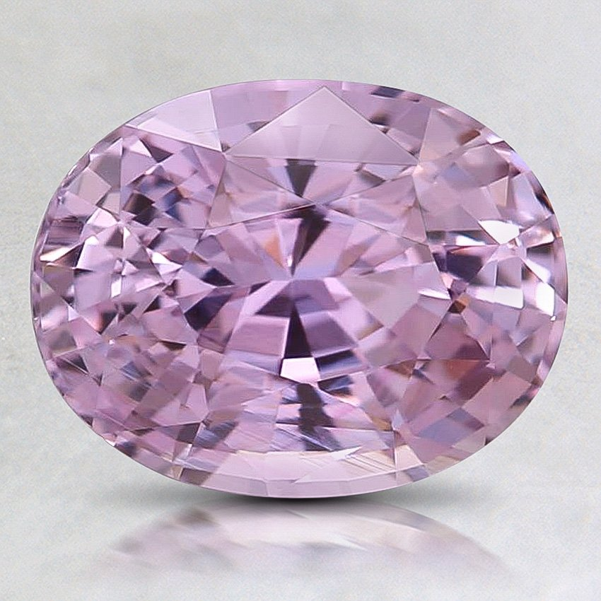 9X7mm Purple Oval Sapphire, top view