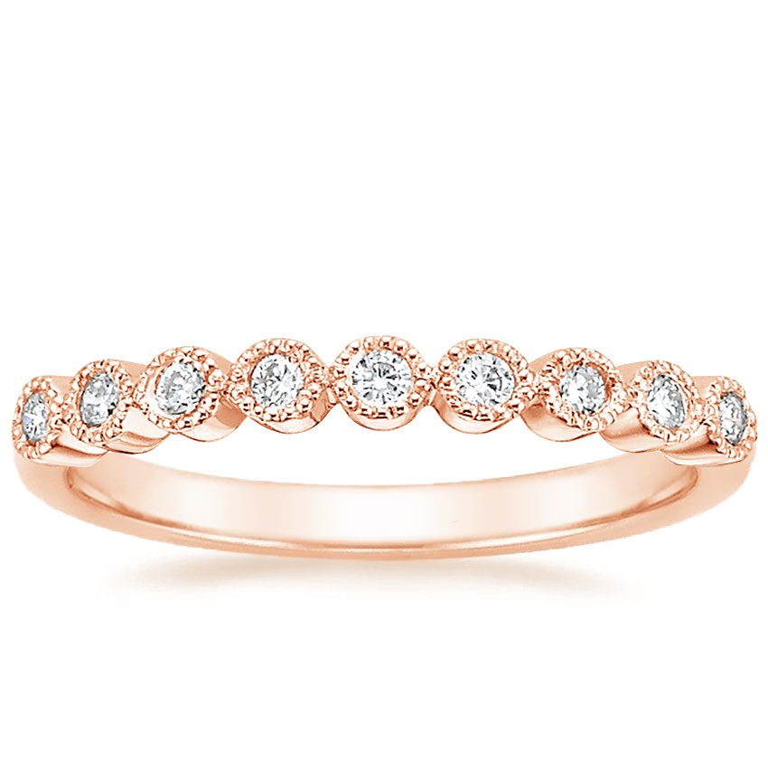 Rose Gold Bezel Eternity Diamond Ring