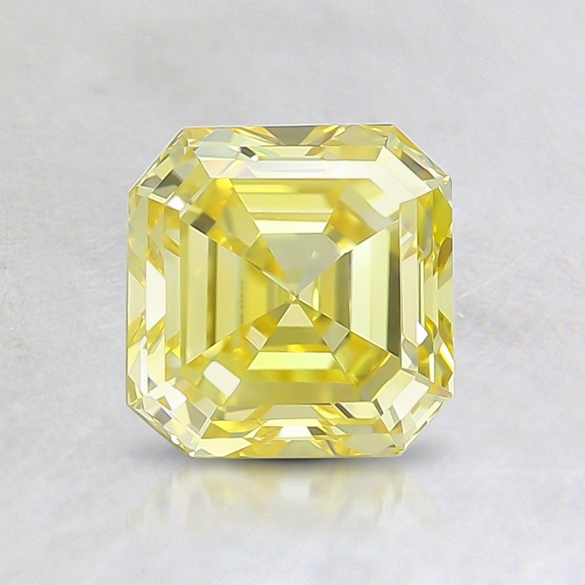 1.06 Ct. Fancy Intense Yellow Asscher Lab Created Diamond