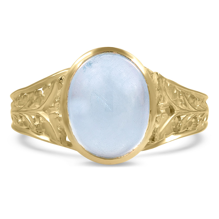 Art Nouveau Aquamarine Vintage Ring