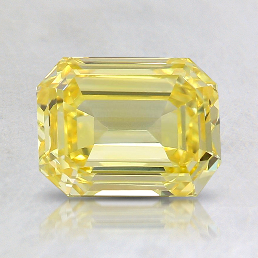 1.37 Ct. Fancy Vivid Yellow Emerald Lab Created Diamond