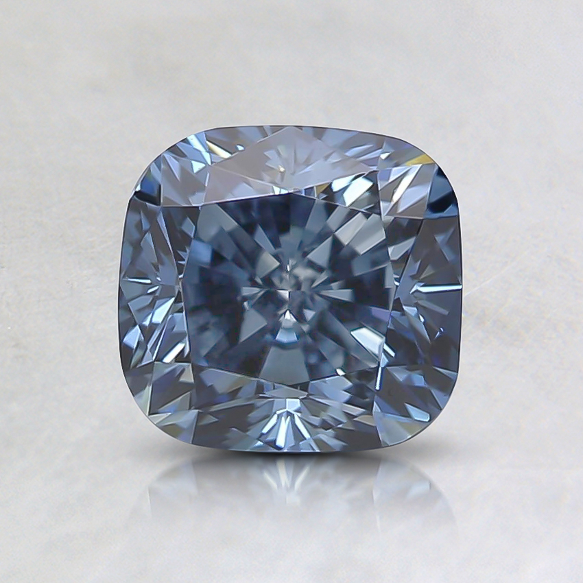 1.26 Ct. Fancy Intense Blue Cushion Lab Created Diamond