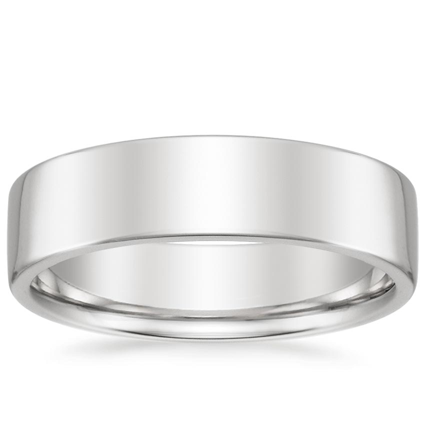 6mm Mojave Wedding Ring in 18K White Gold