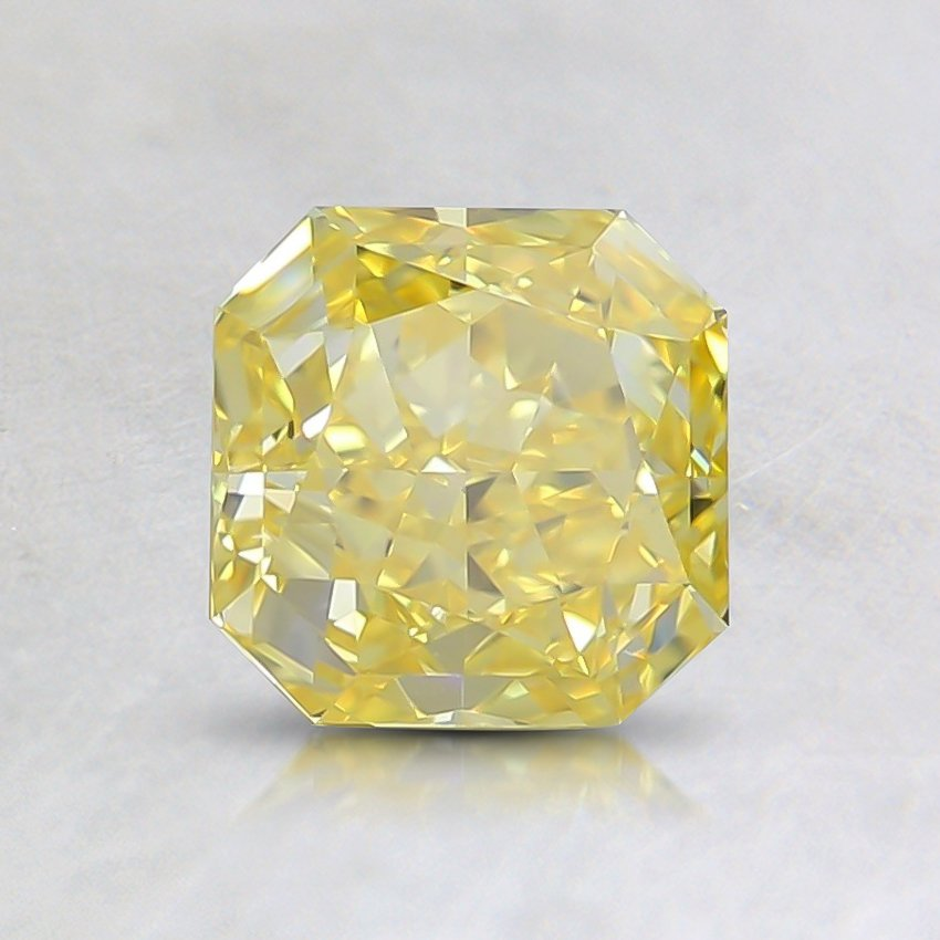 1.01 Ct. Fancy Vivid Yellow Radiant Lab Created Diamond