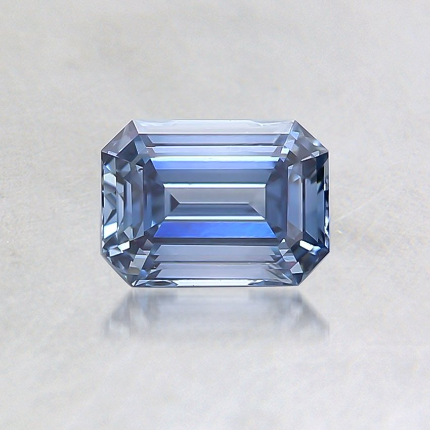 0.55 Ct. Fancy Blue Emerald Lab Created Diamond