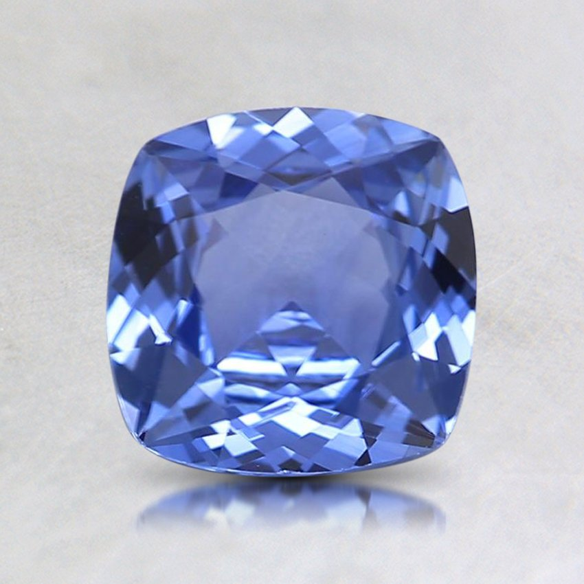 6.5mm Blue Cushion Sapphire, top view