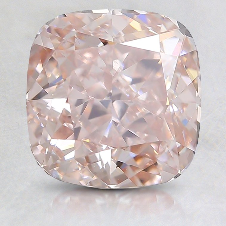 2.08 Ct. Fancy Very Light Orangy Pink Cushion Lab Created Diamond