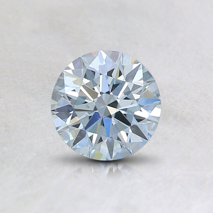 0.65 Ct. Fancy Light Blue Round Lab Created Diamond
