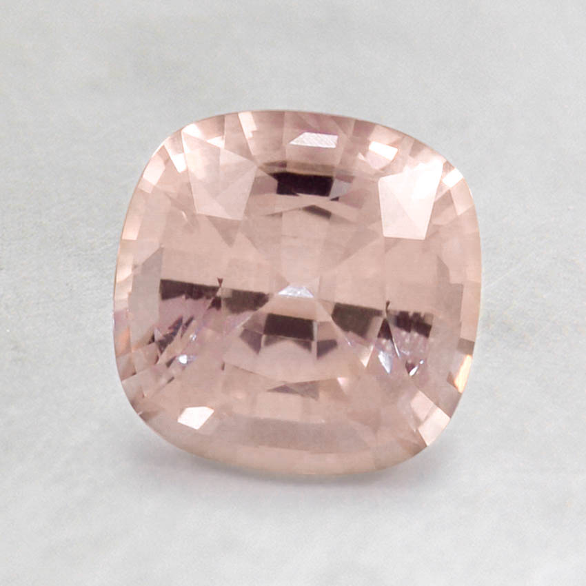 6.5mm Peach Cushion Sapphire, top view
