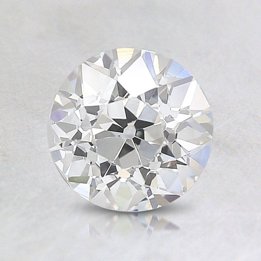 0.84 Carat, H Color, VS2 Clarity, Round Old European Cut Diamond