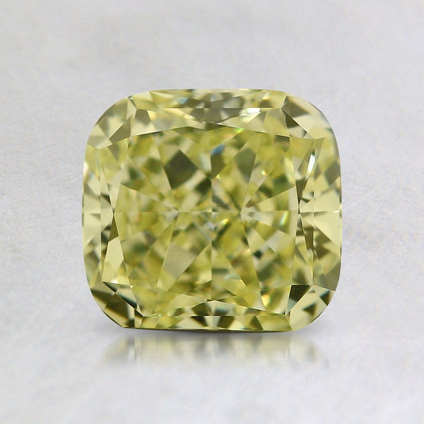 1.22 Ct. Natural Fancy Light Yellow Cushion Diamond