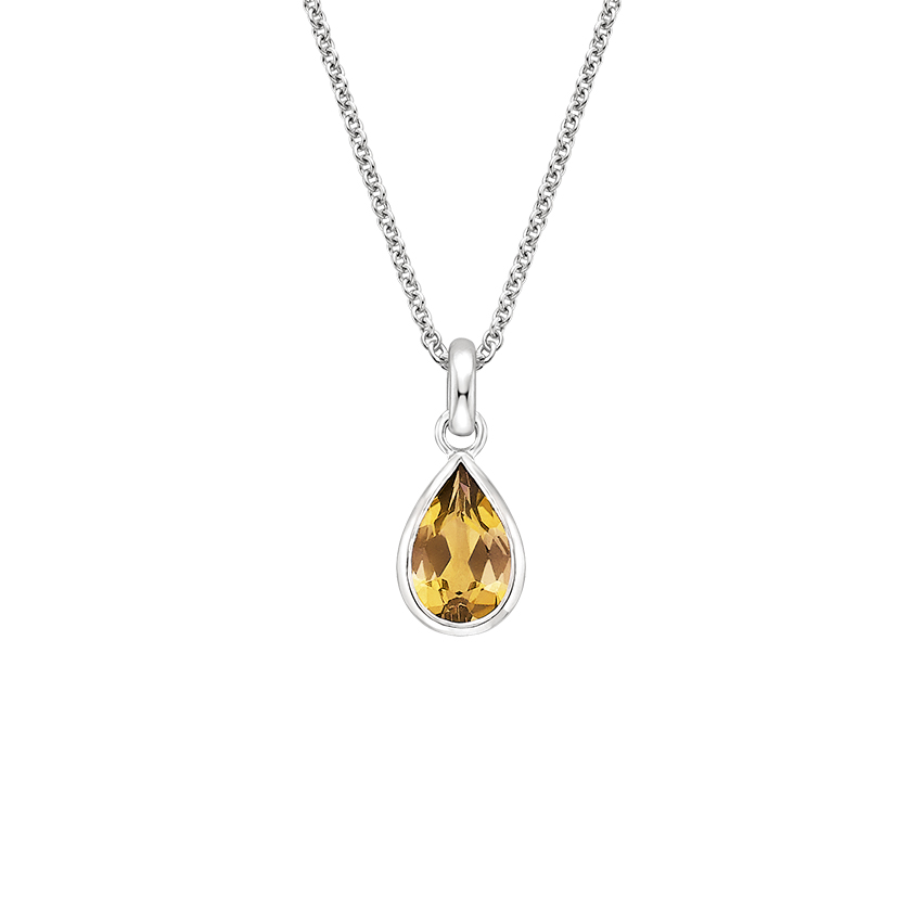 Citrine Pendant Gemstone Pendant Silver Jewelry Pear Shape Pendant Natural Citrine Yellow Citrine Pendant Pendant For Womens
