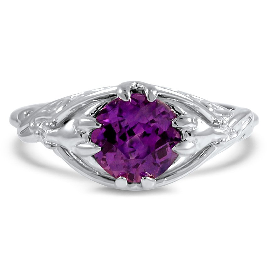 engraved ring rings grande r shape hand amethysts engagement purple stone gold cut white products and dahlia diamond kirk details amethyst side carats kara round marquise in shaped diamonds with featuring