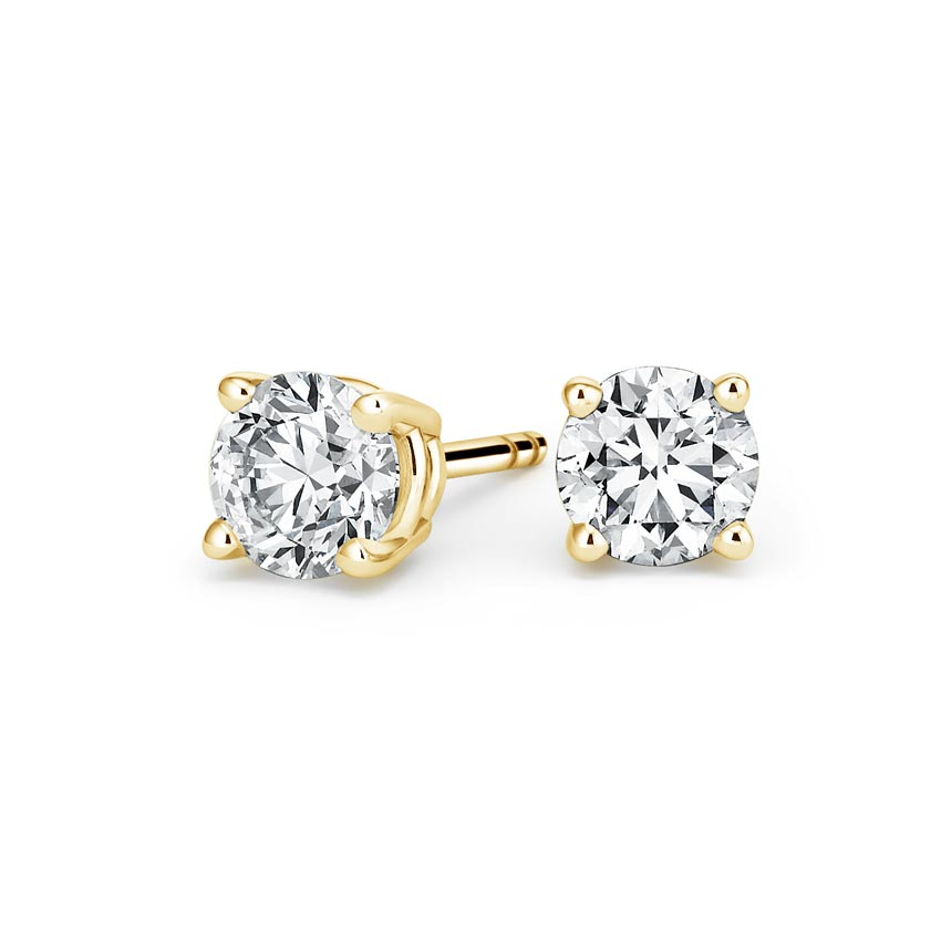 Round Diamond Stud Earrings (2 ct. tw.) in 18K Yellow Gold
