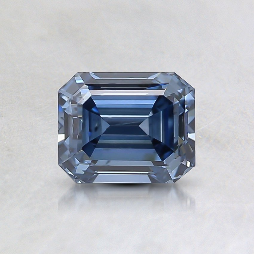 0.83 Ct. Fancy Deep Blue Emerald Lab Created Lab Created Diamond