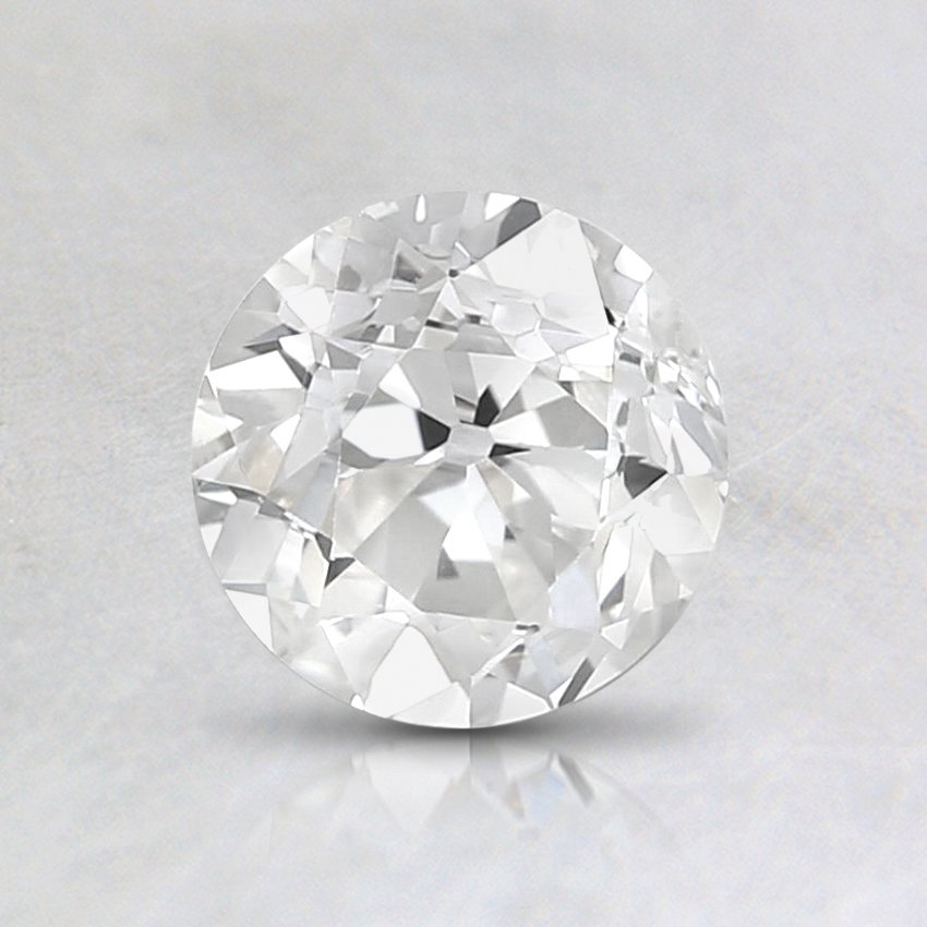 0.84 Carat, I Color, SI1 Clarity, Round Old European Cut Diamond