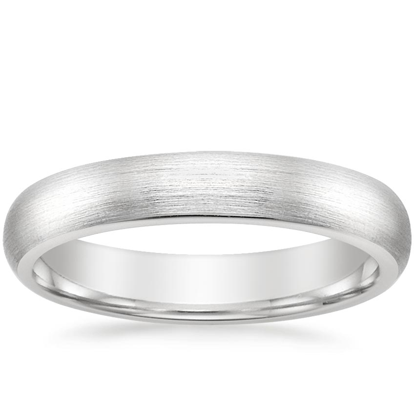 4mm Matte Comfort Fit Wedding Ring in Platinum