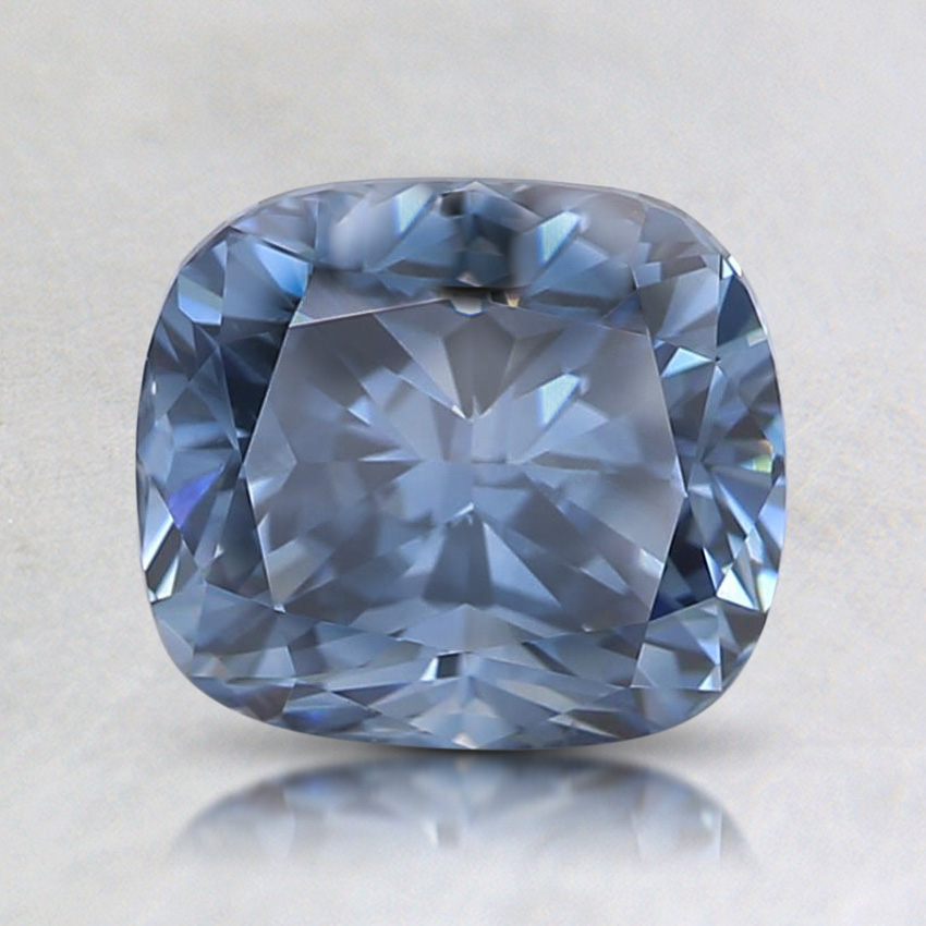 1.71 Ct. Fancy Vivid Blue Cushion Lab Created Diamond