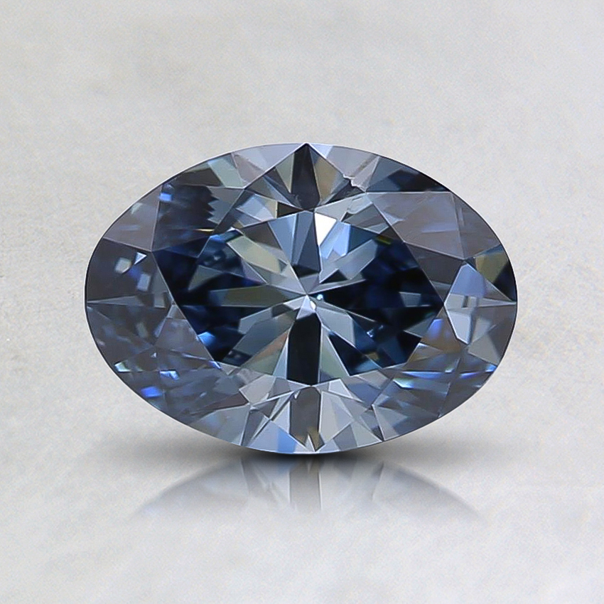 0.73 Ct. Fancy Intense Blue Oval Lab Created Diamond