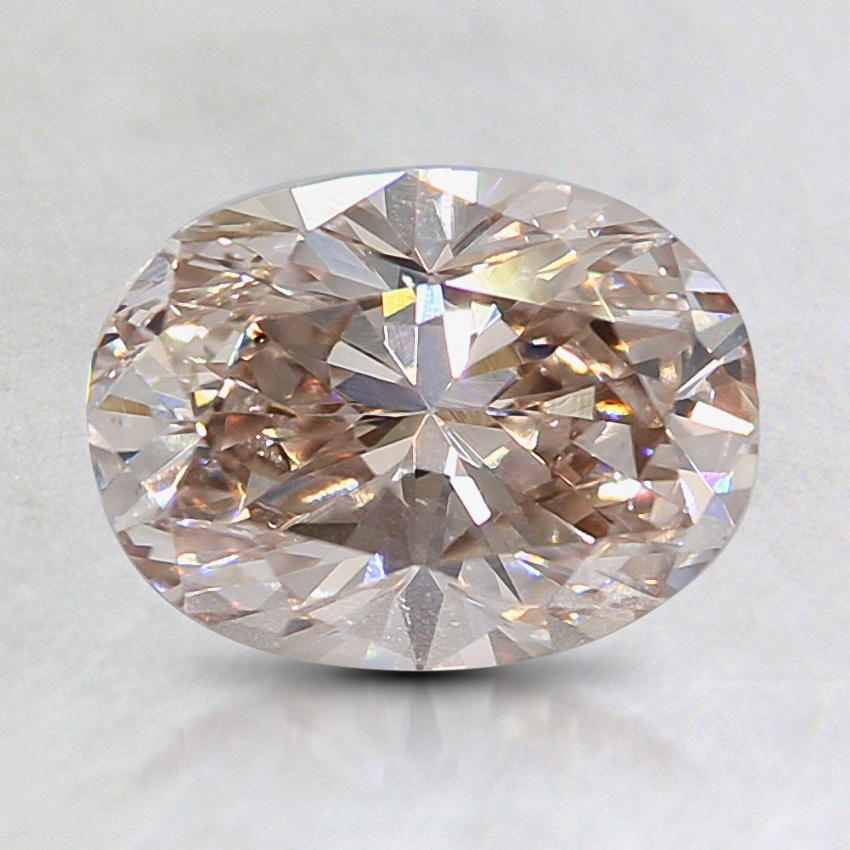 1.22 Ct. Natural Fancy Light Pinkish Brown Oval Diamond