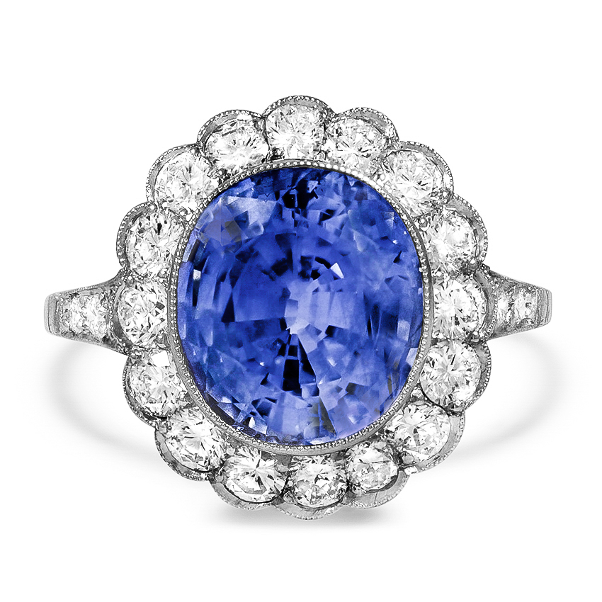 Edwardian Reproduction Sapphire Cocktail Ring