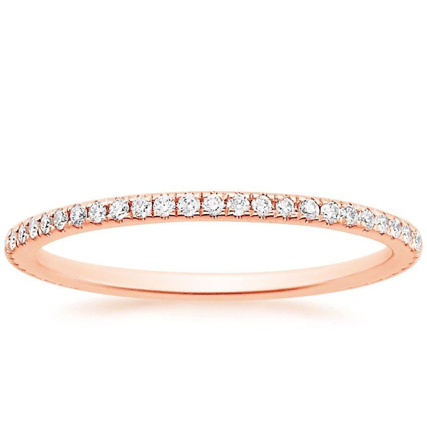 whisper eternity diamond ring 14 ct tw in 14k rose gold