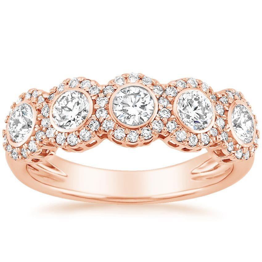 Rose Gold Quintessa Diamond Ring (7/8 ct. tw.)