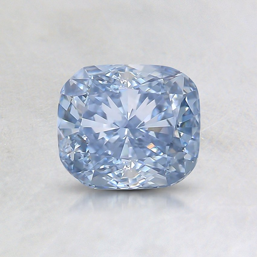 0.85 Ct. Fancy Light Blue Cushion Lab Created Diamond