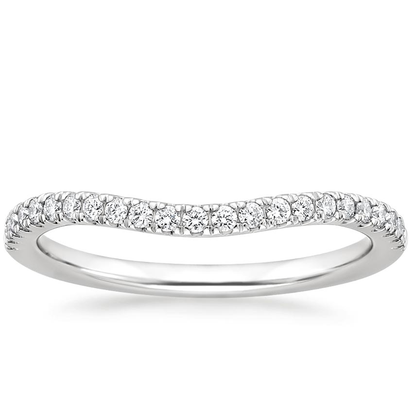Curved Ballad Diamond Ring (1/6 ct. tw.) in Platinum