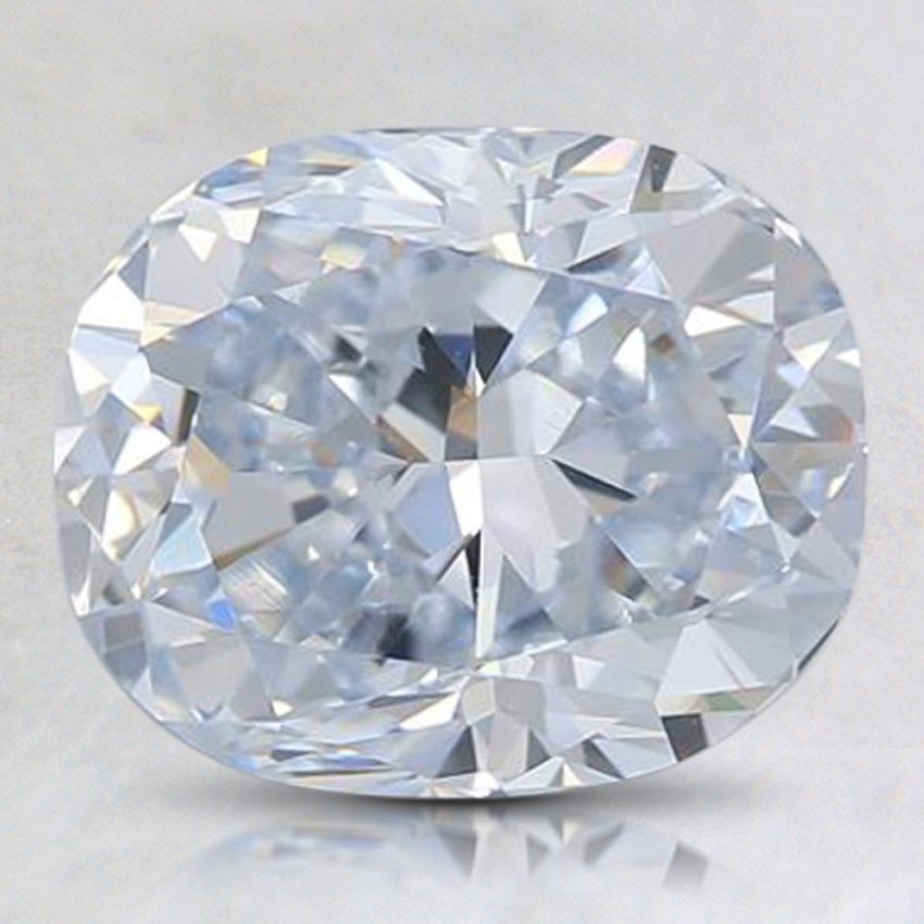 2.67 ct. Lab Created Blue Cushion Diamond