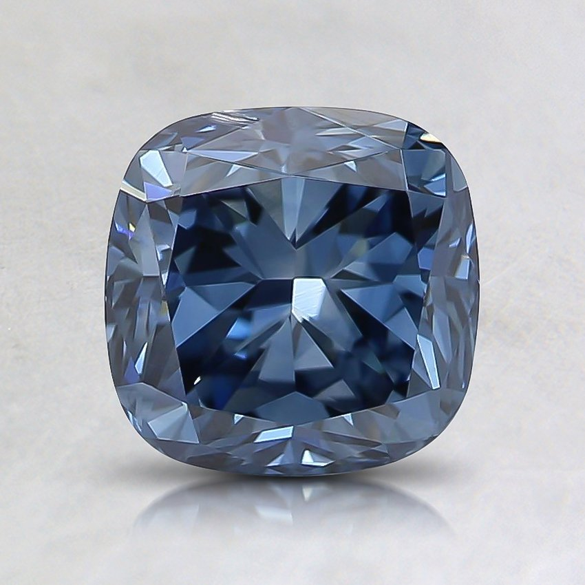 1.52 Ct. Fancy Vivid Blue Cushion Lab Created Diamond