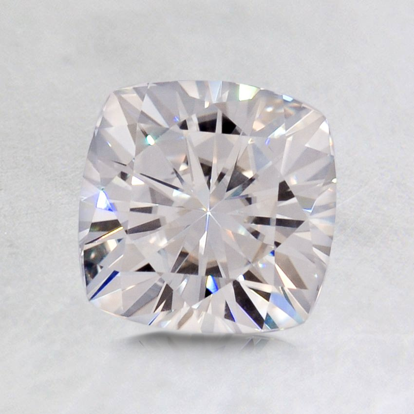 6.5mm Premium Cushion Moissanite, top view
