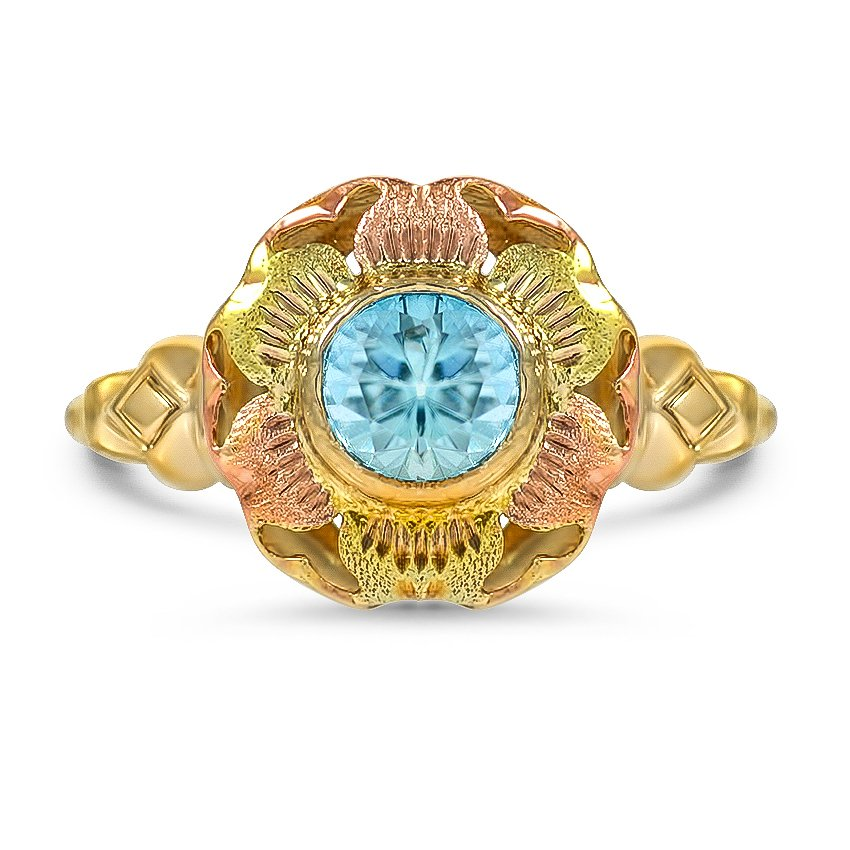 Art Nouveau Zircon Vintage Ring