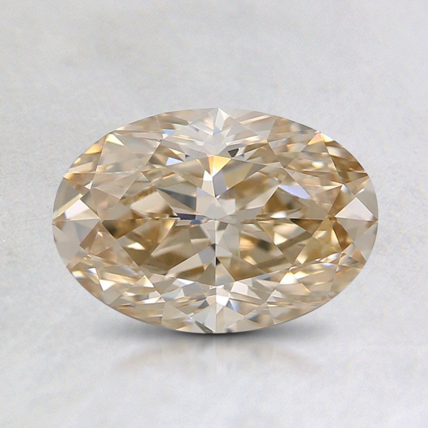 1.73 Ct. Natural Fancy Light Brown Oval Diamond, top view