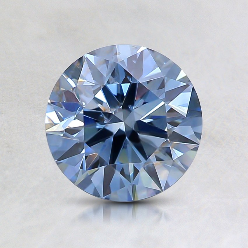 1.08 Ct. Lab Created Fancy Blue Round  Diamond