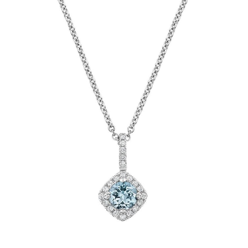 231f409f0439d5 Aquamarine And Diamond Pendant 18k White Gold - Pendant Design Ideas