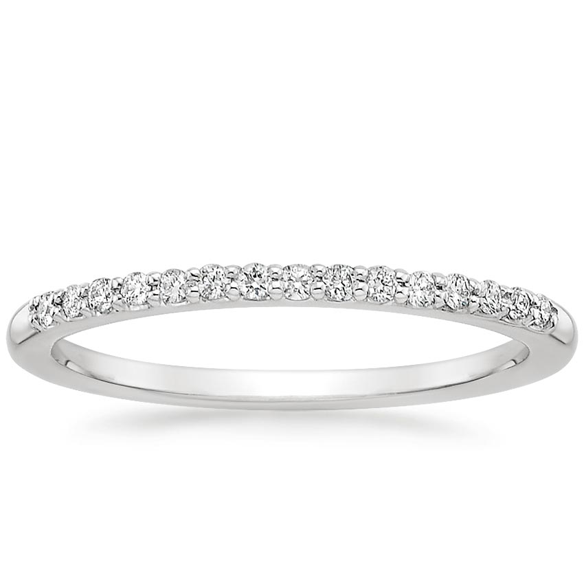 Delicate Shared Prong Wedding Band | Brilliant Earth