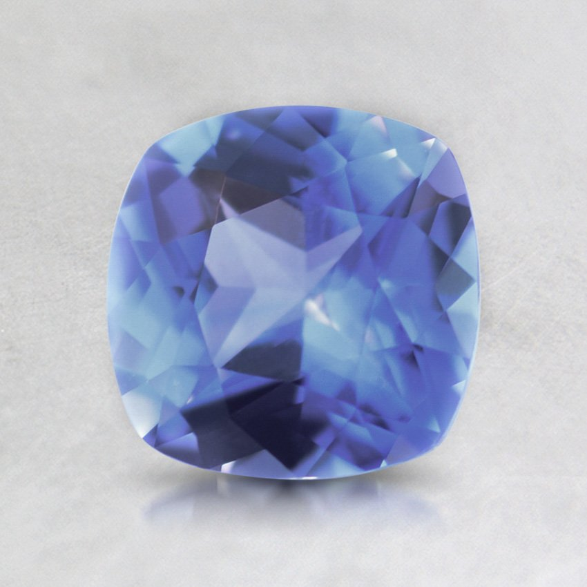6.5mm Violet Cushion Sapphire, top view